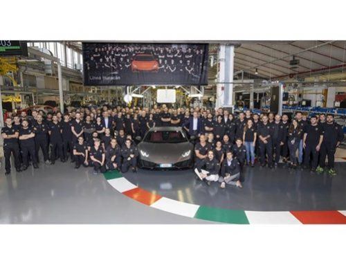 LAMBORGHINI HURACAN PRODUCTION MILESTONE. New car news.