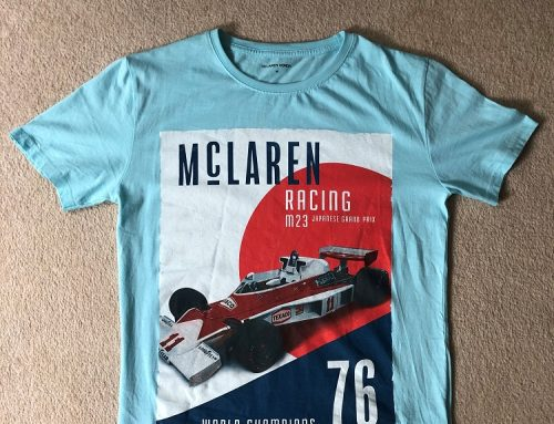 MCLAREN RACING WORLD CHAMPION 1976 T-SHIRT.