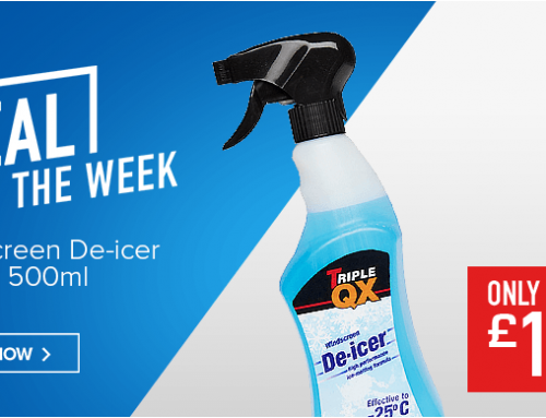 BEAT THE UK FROST WITH TRIPLE QX WINTER DE-ICER.