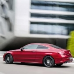 Mercedes Benz C-Class Coupe Side and Rear