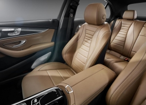 Mercedes Benz E class leather seats