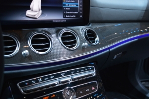 Mercedes Benz E Class 400 close up dash