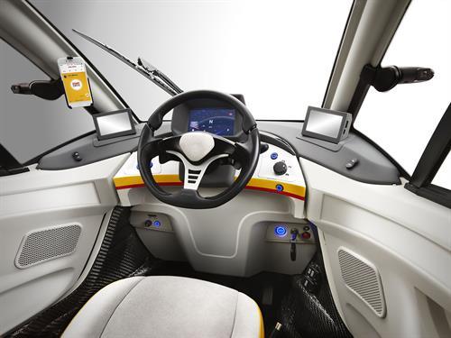 Shell concept car inside