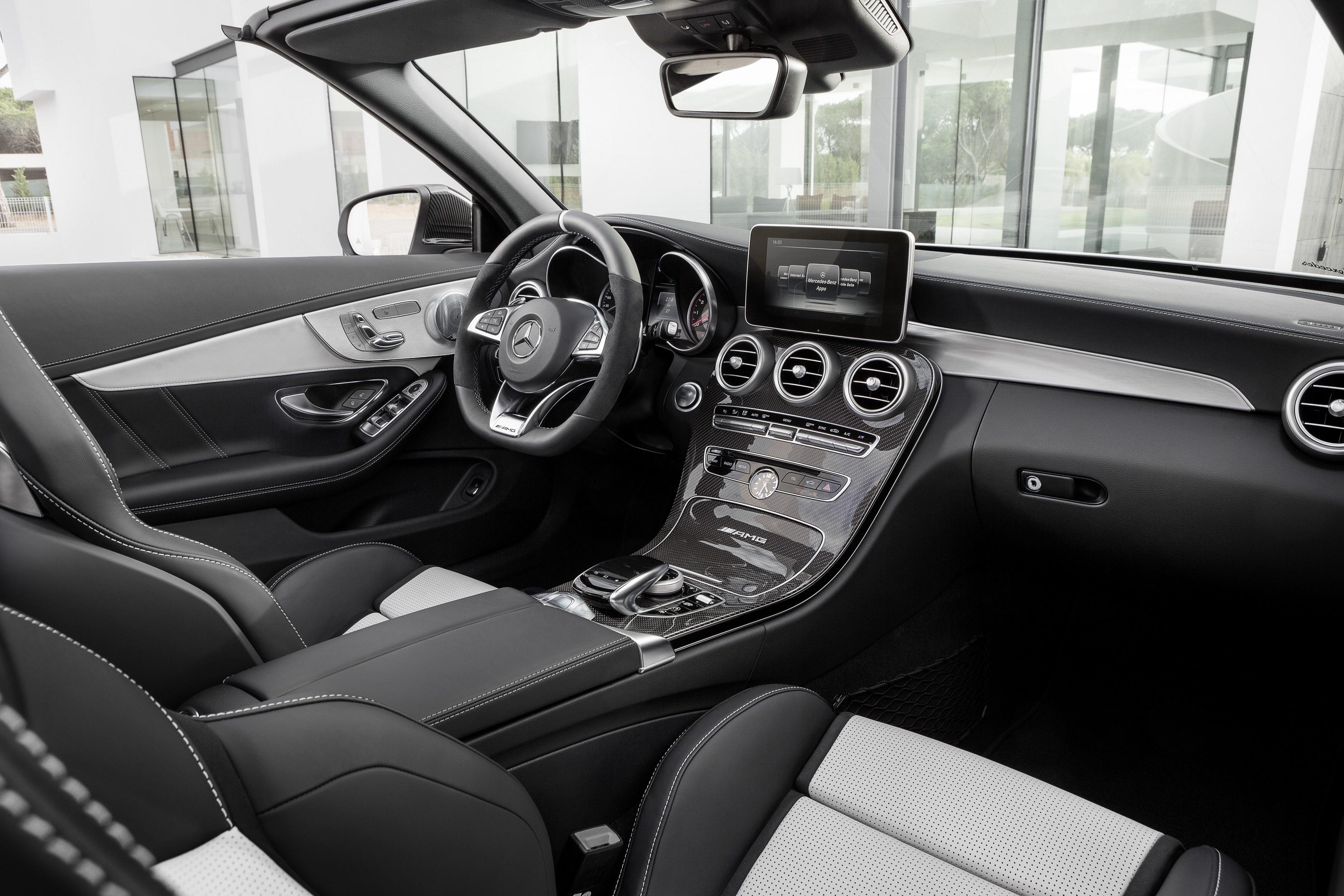 Mercedes Benz C Class cab inside