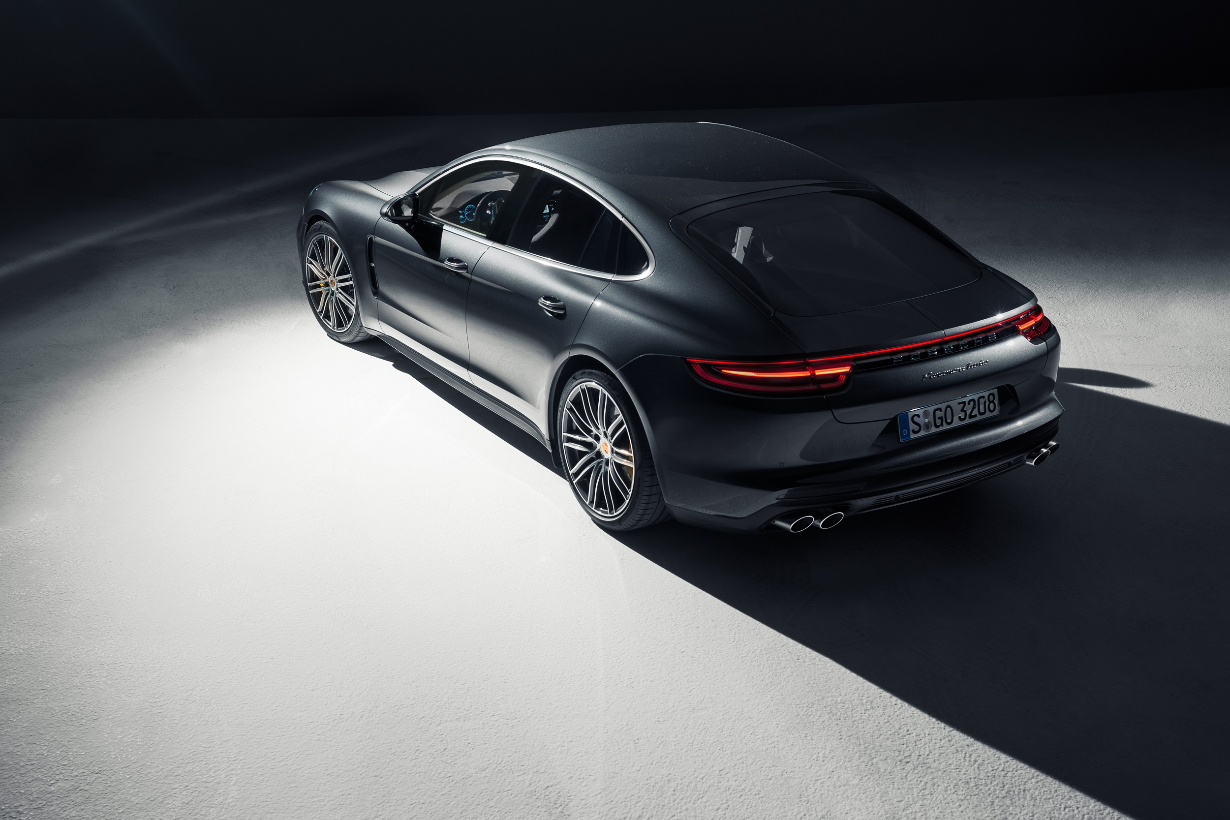 Porsche Panamera side and rear
