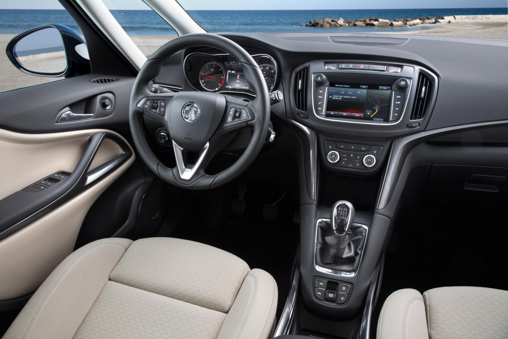 Vauxhall Zafira inside