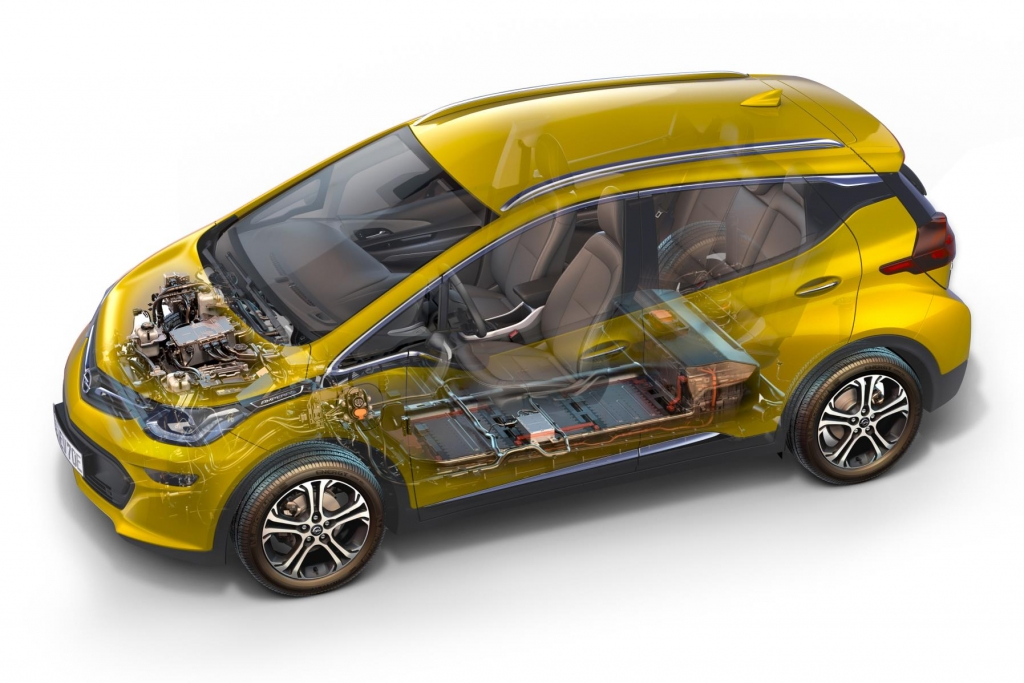 Vauxhall Ampera-e battery