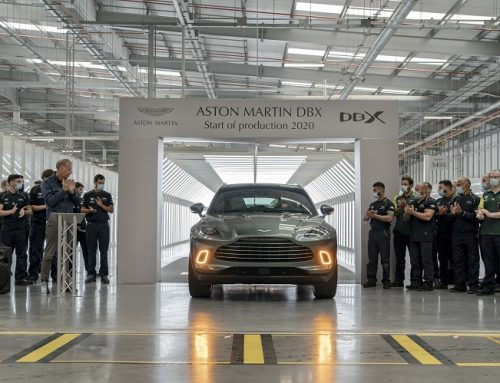 FIRST ASTON MARTIN DBX DRIVES OFF THE PRODUCTION LINE. New car news.