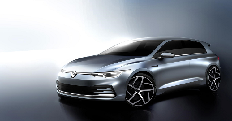 NEW SKETCHES OF THE MK8 VW GOLF. New car news.