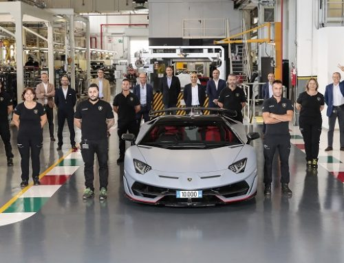 LAMBORGHINI CELEBRATES 10,000TH AVENTADOR. New car news.