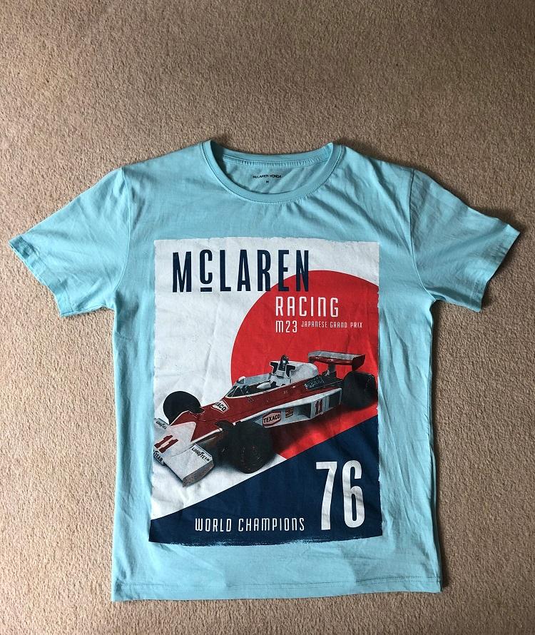 MCLAREN RACING WORLD CHAMPION 1976 T-SHIRT.