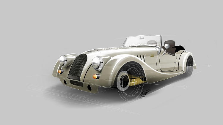 A VERY LIMITED EDITION MORGAN PLUS 4. New car news.