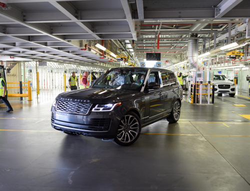 FIRST RANGE ROVER PRODUCED UNDER NEW SOCIAL DISTANCING RULES. New car news.